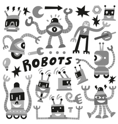 Robots - set icons vector