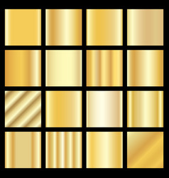 Set of gold gradients golden squares collection vector