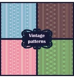 set of vintage patterns vector image vector image