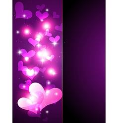 Shiny heart background vector