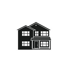 silhouette suburban american house vector image vector image