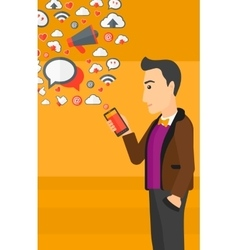 Social media applications vector image