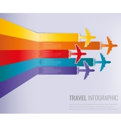 Travel infographic template with colorful vector