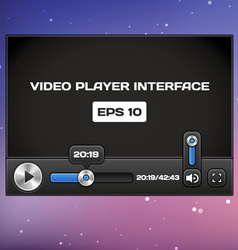 Video Player Interface vector image