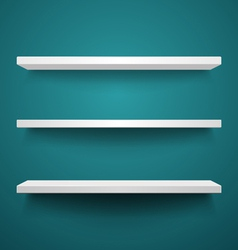 White shelves on wall vector