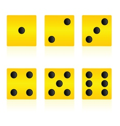 Yellow cube for playing game vector