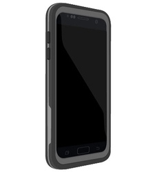 Smartphone with case vector