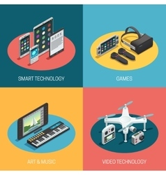 Gadgets Isometric Design vector image