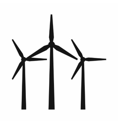 Wind turbines icon simple style vector image