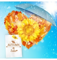 Background on a theme of autumn Sale EPS 10 vector image