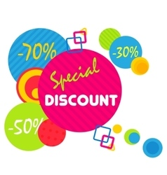 Special offer sale tag discount symbol mega sale vector