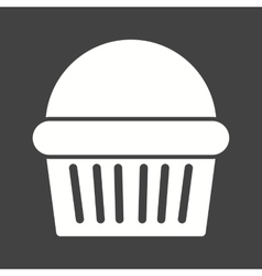 Chocolate muffin vector
