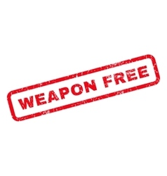 Weapon free rubber stamp vector