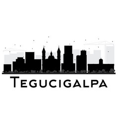 Tegucigalpa city skyline black and white vector
