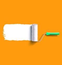 brush roller brush vector image