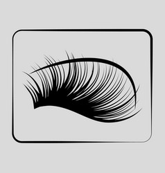Eyelashes icon on a gray background vector