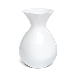 White vase isolated on a white background vector