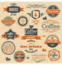 Coffee stamps and label design backgrounds vector