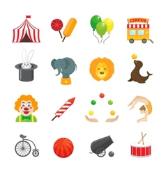 Circus icons set vector