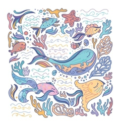 Colorful sea vector