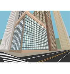 Road and city scene vector