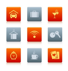 07 square hotel icons vector