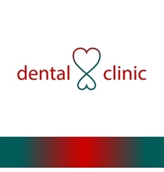 Logo template for dentist clinic vector