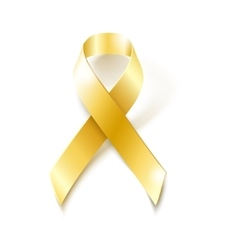 Childhood cancer awareness gold ribbon vector
