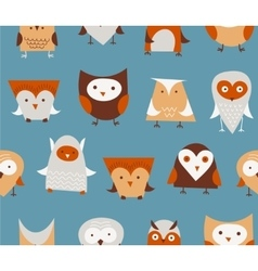 owls seamless pattern vector image