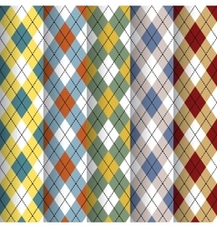Scottish patterns set vector