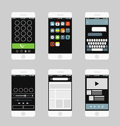 Modern smartphone interface elements vector