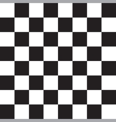 black and white checker pattern vector image