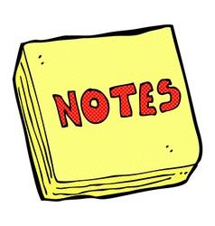 Comic cartoon notes pad vector