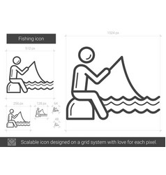 fishing line icon vector image