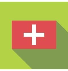 Flag of switzerland icon flat style vector