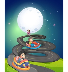 Fullmoon and road vector