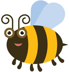 Funny bee vector image vector image
