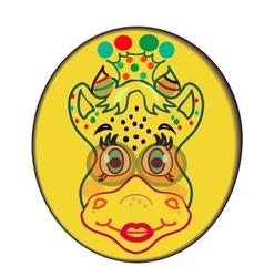 Funny cow cartoon for postcard vector