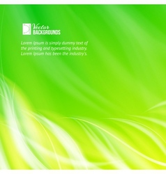 Green glowing background vector