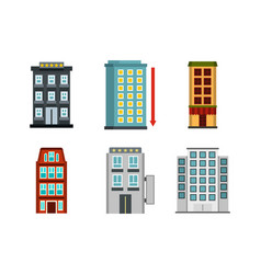 Hotel icon set flat style vector