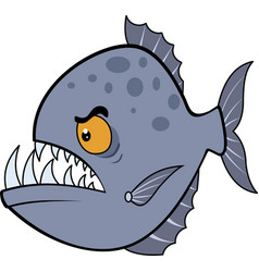 Hungry piranha eps vector