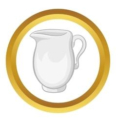 Jug of milk icon vector