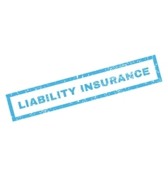 Liability insurance rubber stamp vector