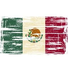 Mexican grunge flag vector