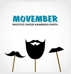 Movember prostate cancer awareness month vector