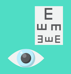 Optometry flat icon medicine and healthcare vector