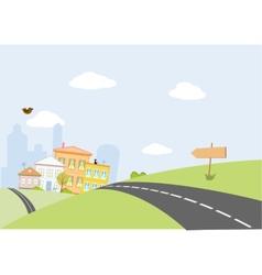 road in city vector image