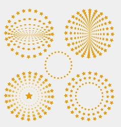 Set of star circle vector