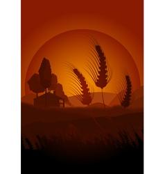 Summertime farming vector