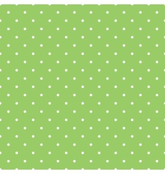 Tile spring green pattern with white polka dots vector
